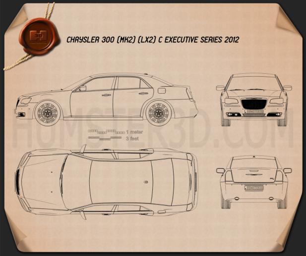 Chrysler 300 C Executive Series 2012 Blueprint