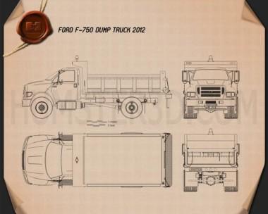 Ford F-750 Dump Truck 2012 Blueprint