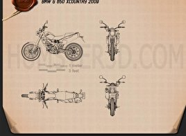 BMW G650X Country 2009 Blueprint