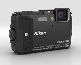 3D model of Nikon Coolpix AW130 Black