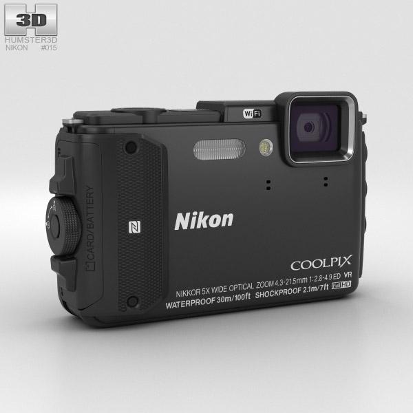 Nikon Coolpix AW130 Black 3D model