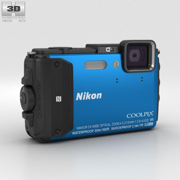Nikon Coolpix AW130 Blue 3D model
