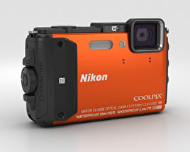 3D model of Nikon Coolpix AW130 Orange