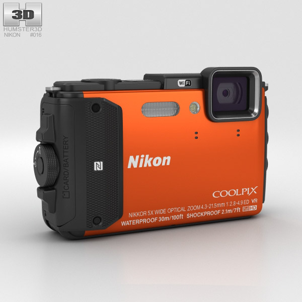 Nikon Coolpix AW130 Orange 3D model