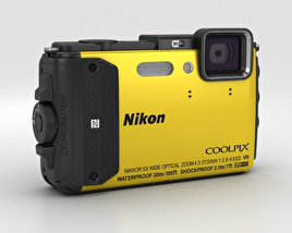 3D model of Nikon Coolpix AW130 Yellow