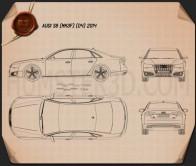 Audi S8 (D4) 2014 Blueprint