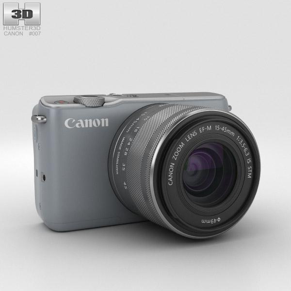 Canon EOS M10 Gray 3D model