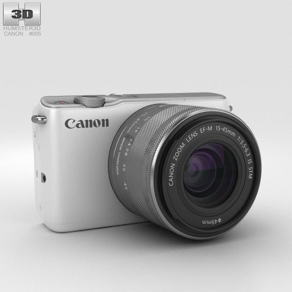 Canon EOS M10 White 3D model