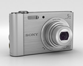3D model of Sony Cyber-Shot DSC-W800 Silver