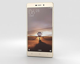 Xiaomi Redmi 3 Gold 3D model