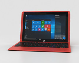 3D model of HP Pavilion x2 10t Sunset Red