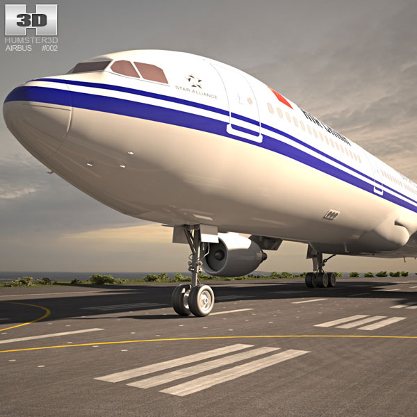 3D model of Airbus A330-300