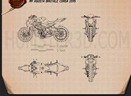 MV Agusta Brutale Corsa 2015 Blueprint