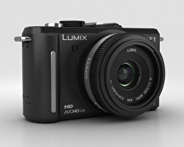 3D model of Panasonic Lumix DMC-GF1 Black