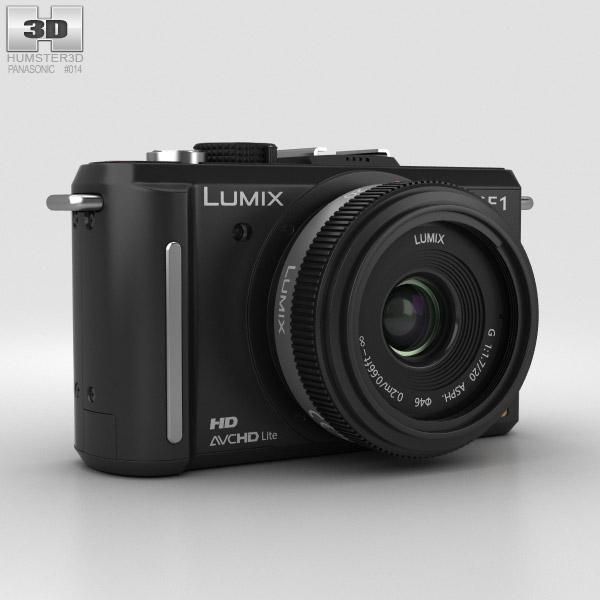 Panasonic Lumix DMC-GF1 Schwarz 3D-Modell