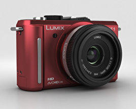 3D model of Panasonic Lumix DMC-GF1 Red
