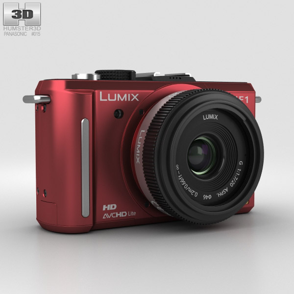 Panasonic Lumix DMC-GF1 Red 3D-Modell