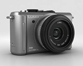 3D model of Panasonic Lumix DMC-GF1 Silver