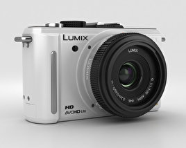 3D model of Panasonic Lumix DMC-GF1 White