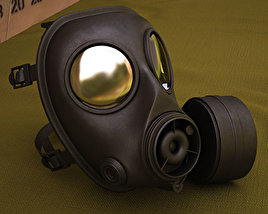 SWAT Gas Mask 3D model