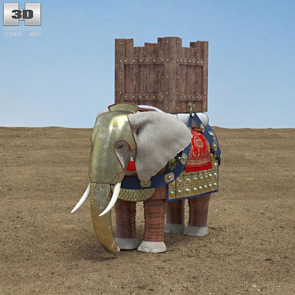 3D model of War Elephant