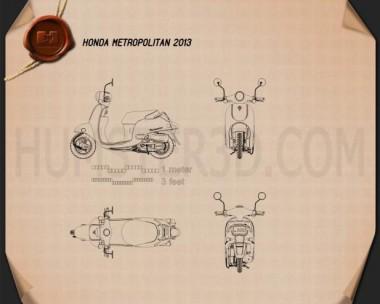 Honda Metropolitan (CHF50) 2013 Blueprint