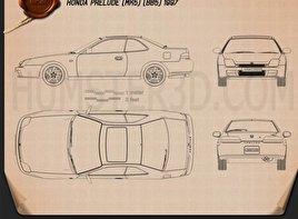Honda Prelude (BB5) 1997 Blueprint