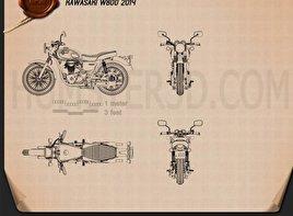 Kawasaki W800 2014 Blueprint