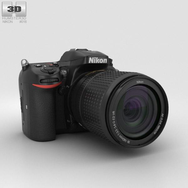 Nikon D7200 3D model
