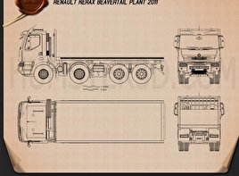 Renault Kerax Beavertail Plant 2011 Blueprint