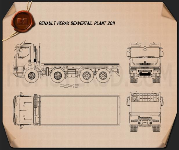 Renault Kerax Beavertail Plant 2011 Blueprint