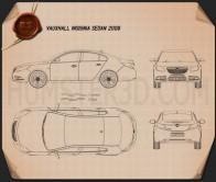 Vauxhall Insignia Sedan 2009 Blueprint