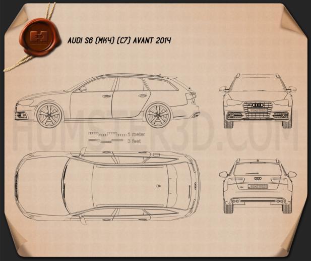 Audi S6 (C7) avant 2014 Blueprint
