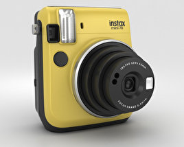 Fujifilm Instax Mini 70 Yellow 3D model
