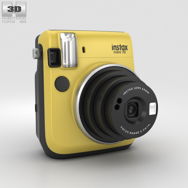 3D model of Fujifilm Instax Mini 70 Yellow