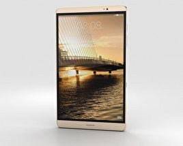 3D model of Huawei MediaPad M2 8-inch Gold