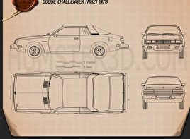 Dodge Challenger 1978 Blueprint