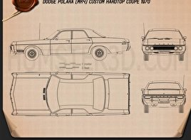Dodge Polara Hardtop Coupe 1970 Blueprint