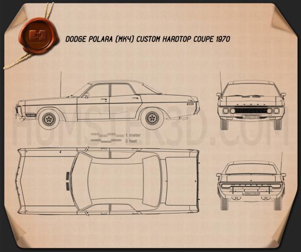 Dodge Polara Hardtop Coupe 1970 Plan