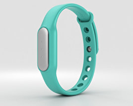 3D model of Xiaomi Mi Band Light Blue