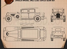 Chrysler Imperial Close Coupled Sedan 1931 Blueprint
