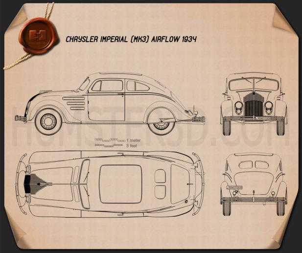 Chrysler Imperial Airflow 1934 Blueprint