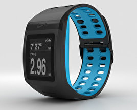 3D model of Nike+ SportWatch GPS Anthracite/Blue Glow