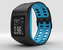 Nike+ SportWatch GPS Anthracite/Blue Glow 3D model