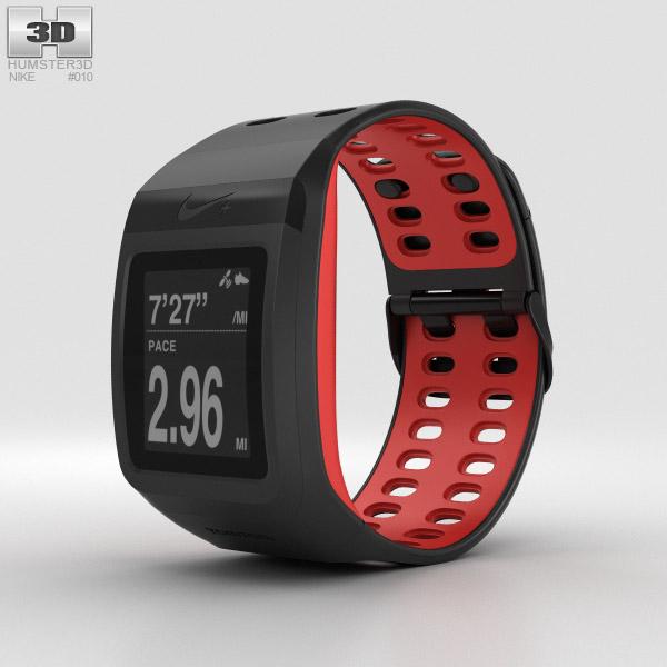 3D model of Nike+ SportWatch GPS Black/Red