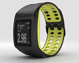 3D model of Nike+ SportWatch GPS Black/Volt