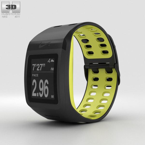 3D model of Nike+ SportWatch GPS Black/Volt
