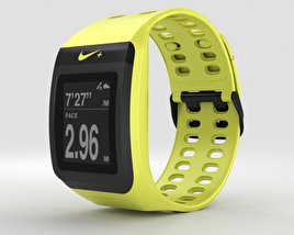 Nike+ SportWatch GPS Volt/Black 3D model
