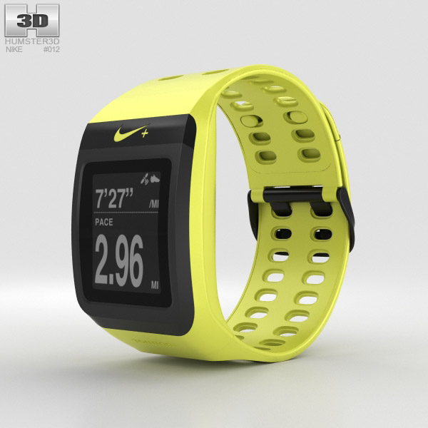 Nike+ SportWatch GPS Volt/Black 3D model