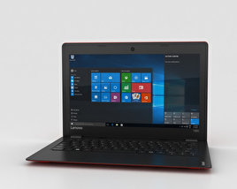 3D model of Lenovo Ideapad 100S Red